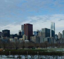 Wintry Windy City Skyline - Chicago, Illinois, USA Sticker