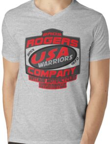 usa warriors motorcycle by rogers bros Mens V-Neck T-Shirt