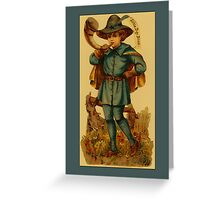 Vintage Boy Blue Greetings Greeting Card