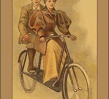 Vintage Tandem Bike Greetings by Yesteryears
