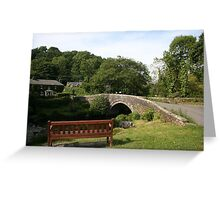 Village Bridge Greeting Card