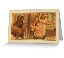 Vintage Goldilocks Greetings Greeting Card