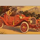 Vintage Couple in Roadster Greetings by Yesteryears