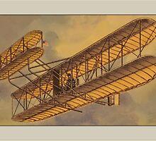Vintage Bi-Plane Greetings by Yesteryears