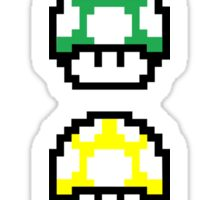 multicolored Mario mushrooms Sticker
