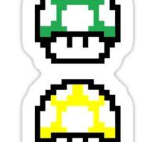 multicolored Mario mushrooms Sticker