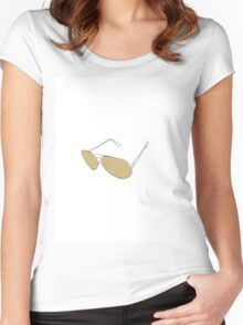 Golden Aviators - The Line Art Collection Women's Fitted Scoop T-Shirt