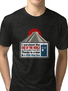 The Doctor saved us Tri-blend T-Shirt