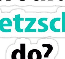 what would Nietzsche do? Sticker