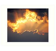 Cornish Sky Art Print
