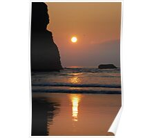 Sunset at Mawgan Poster