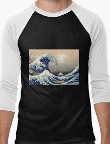 Great Wave Men's Baseball ¾ T-Shirt