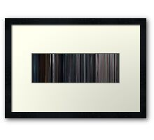 Moviebarcode: The Avengers (2012) Framed Print