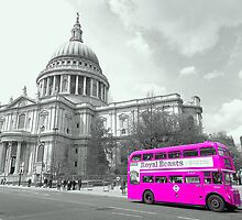 Pink Routemaster by DavidWHughes