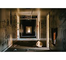 Abandoned Hallway Photographic Print