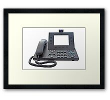 VoIP Phone with Blank Display Framed Print
