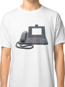 VoIP Phone with Blank Display Classic T-Shirt