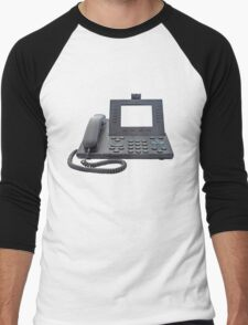 VoIP Phone with Blank Display Men's Baseball ¾ T-Shirt