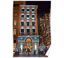 USA. New York. Manhattan. 5th Avenue Welcomes Christmas. Poster