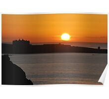 Sunset over the Headland Poster