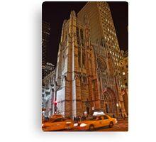 USA. New York. Manhattan. Saint Thomas Church. Canvas Print