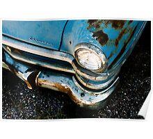 Blue Chrysler Sedan Poster