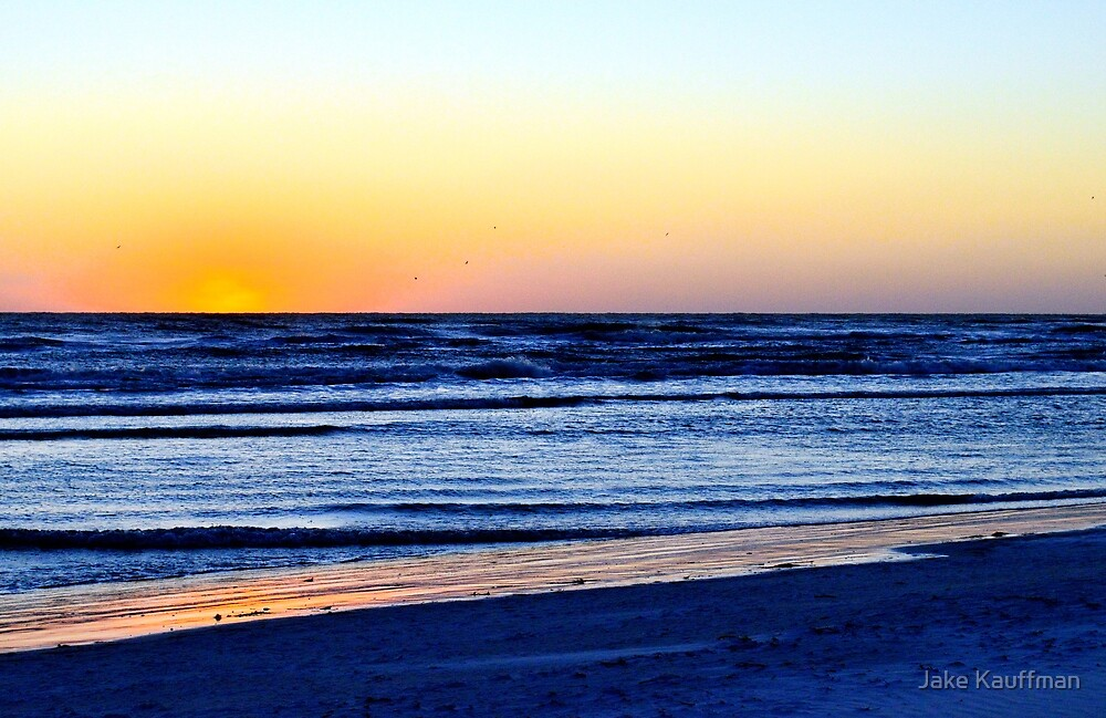Beach Sunset on the end of the world by Jake Kauffman