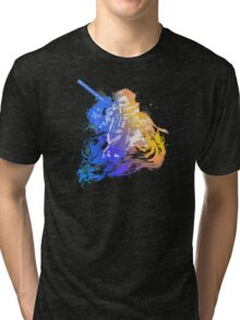 Auron Emblem (Black) Tri-blend T-Shirt
