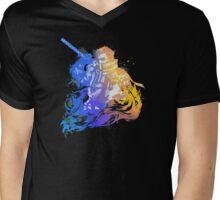 Auron Emblem (Black) Mens V-Neck T-Shirt
