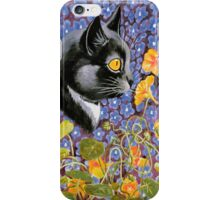 Vintage Louis Wain Cat in a Sea of Flowers Case iPhone Case/Skin