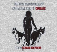 Courage and a GSD shirt German Shepherd Dog shirt Kids Clothes