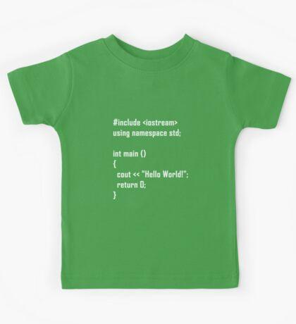 Hello World! C++ Kids Tee