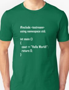 Hello World! C++ Unisex T-Shirt