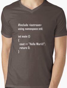 Hello World! C++ Mens V-Neck T-Shirt