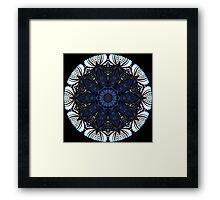 Blue Fantasy Kaleidoscope 05 Framed Print