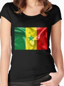 Senegal Flag Women's Fitted Scoop T-Shirt