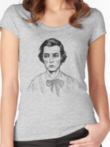 Buster Keaton Johnny Gray shirt version 2 Women's Fitted Scoop T-Shirt