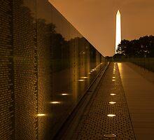 Vietnam Washington Memorial by Dick Paige