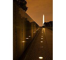 Vietnam Washington Memorial Photographic Print