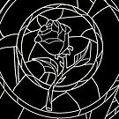 Stained Glass Rose Black by rapplatt