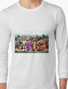 A Mixed Interstellar Family on the Planet of Ykulian Faces Global Warming Long Sleeve T-Shirt