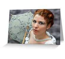 Lady with umbrella Greeting Card