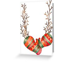 Watercolor Gloves  Greeting Card