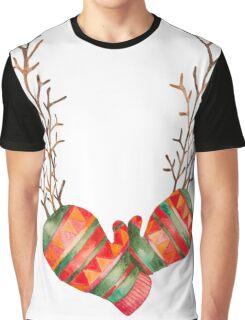 Watercolor Gloves  Graphic T-Shirt