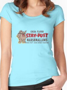 Stay Puft Branding (Cocoa Flavor) Women's Fitted Scoop T-Shirt