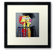 CLOWNS  TWO HEADS ARE BETTER THEN ONE Framed Print