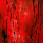 Red Rain Original Oil Painting by mariakitano