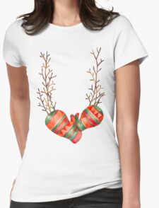Watercolor Gloves  Womens Fitted T-Shirt