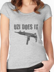 uzi does it Women's Fitted Scoop T-Shirt