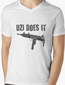 uzi does it Mens V-Neck T-Shirt